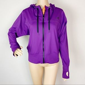 Adidas Climalite Full Zip Hooded Running Jacket